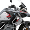 BKIT 3767 BMW R1250GS Adventure Ice Grey Spike V2 Red Black Stickers Kit 02