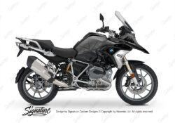 BKIT 3784 BMW R1200GS LC 2017 Black Storm Metallic Compass Grey Side Tank Stickers Kit 01