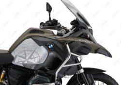 BKIT 3786 BMW R1200GS LC Adventure Olive Green Compass Grey Side Tank Stickers Kit 02