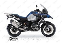 BKIT 3788 BMW R1200GS LC Adventure Racing Blue Compass Grey Side Tank Stickers Kit 01