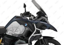 BKIT 3789 BMW R1200GS LC Adventure Ocean Blue Compass Grey Side Tank Stickers Kit 02