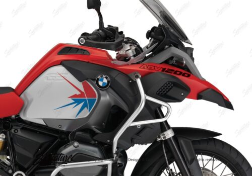 BKIT 3794 BMW R1200GS LC Adventure Racing Red Spike V2 Red Blue Stickers Kit 02
