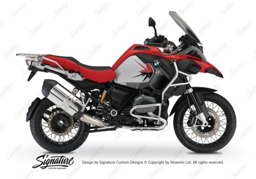 BKIT 3795 BMW R1200GS LC Adventure Racing Red Spike V2 Red Black Stickers Kit 01