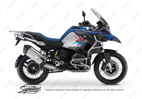 BKIT 3796 BMW R1200GS LC Adventure Racing Blue Spike V2 Red Blue Stickers Kit 01