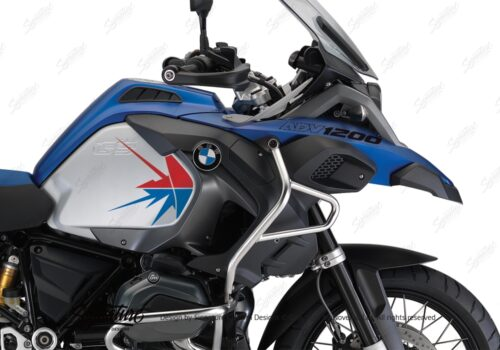BKIT 3796 BMW R1200GS LC Adventure Racing Blue Spike V2 Red Blue Stickers Kit 02