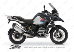 BKIT 3798 BMW R1200GS LC Adventure Ocean Blue Spike V2 Blue Red Stickers Kit 01 1