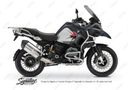 BKIT 3799 BMW R1200GS LC Adventure Ocean Blue Spike V2 Red Black Stickers Kit 01
