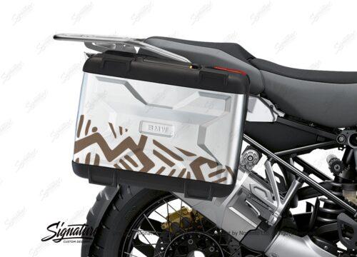 BKIT 3821 BMW Vario Panniers Massai Brown Metallic Stickers Kit 02