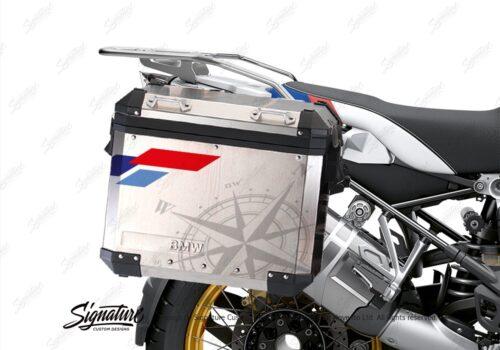 ΒΚΙΤ 3822 BMW Alluminium Panniers Compass V2 Stickers Kit 02
