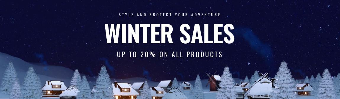 Winter Sales 2020 Website Slider