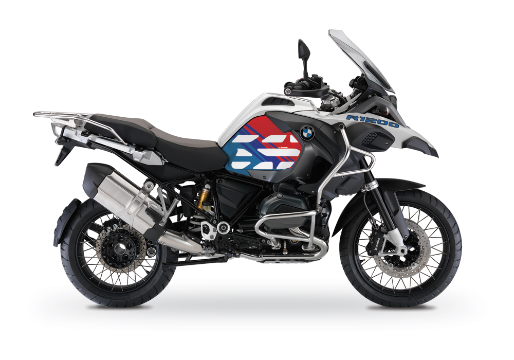 BSTI 2806 BMW R1200GS LC Adventure Alpine White V1 Style Anniversary Limited Edition Tank Stickers Msport 01