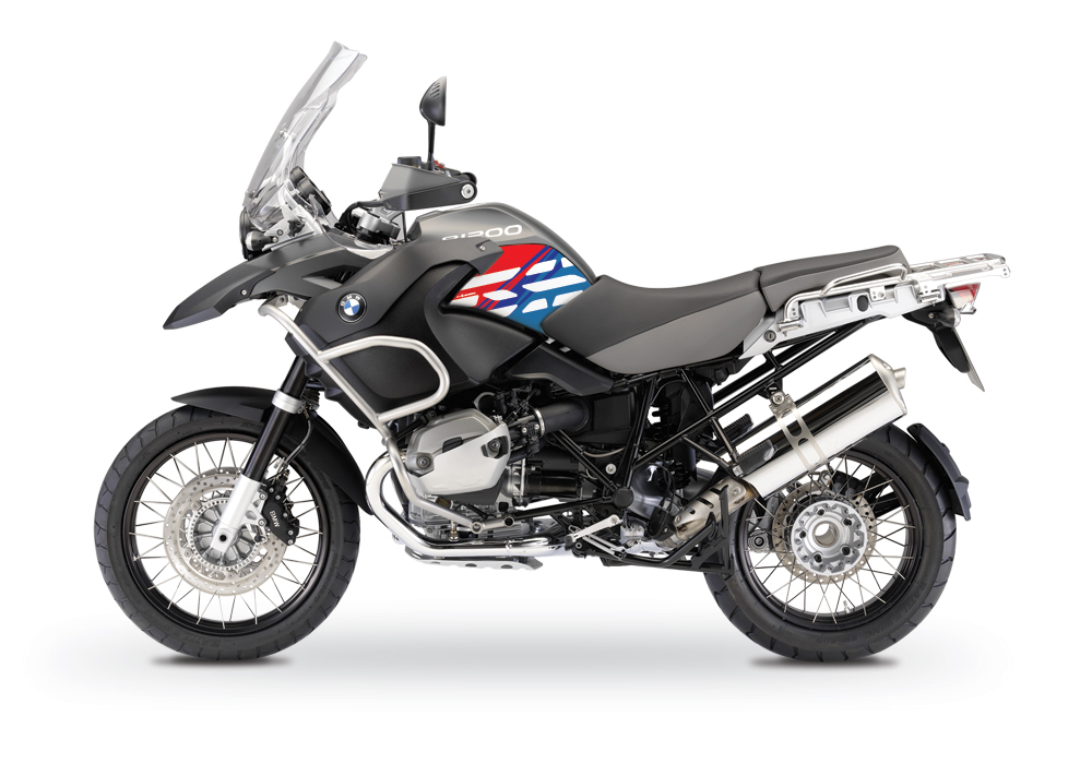 BSTI 2818 BMW R1200GS Adventure 2008 13 Charcoal Grey Style Anniversary Limited Edition Side Tank Stickers Msport 01