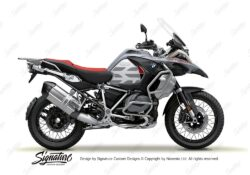 BKIT 3852 BMW R1250GS Ice Grey GS Lines Style HP Red Black 01