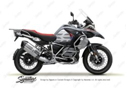 BKIT 3853 BMW R1250GS Ice Grey GS Lines Style HP Red Blue 01