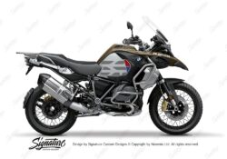 BKIT 3854 BMW R1250GS Exclusive GS Lines Style HP Red Blue 01
