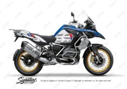 BKIT 3856 BMW R1250GS Style HP Silver Tank GS Lines Style HP Red Blue 01