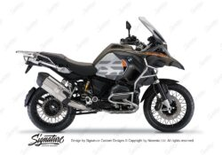 BKIT 3859 BMW R1200GS LC Olive Matte GS Lines Style HP Orange Black 01