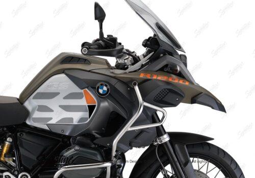 BKIT 3859 BMW R1200GS LC Olive Matte GS Lines Style HP Orange Black 02