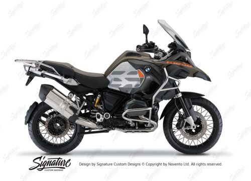 BKIT 3860 BMW R1200GS LC Olive GS Lines Style HP Orange Military 01