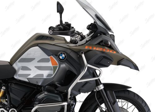 BKIT 3860 BMW R1200GS LC Olive GS Lines Style HP Orange Military 02