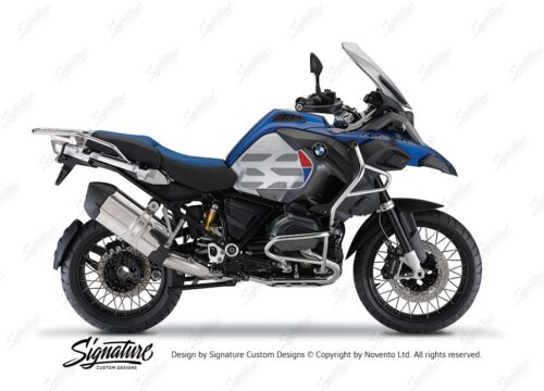 BKIT 3861 BMW R1200GS LC Racing Blue GS Lines Style HP Red Blue 01