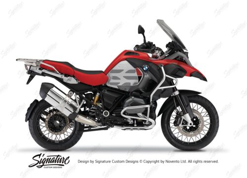 BKIT 3864 BMW R1200GS LC Racing Red GS Lines Style HP Red Black 01