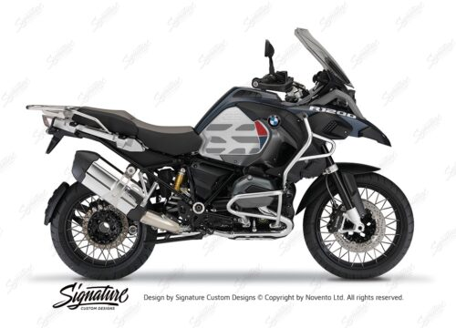 BKIT 3865 BMW R1200GS LC Ocean Blue GS Lines Style HP Red Dark Blue 01