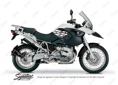 BKIT 3891 BMW R1200GS 2004 2007 Alpine White Style Anniversary LE Black 01