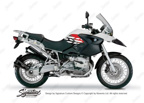 BKIT 3892 BMW R1200GS 2004 2007 Alpine White Style Anniversary LE Red 01