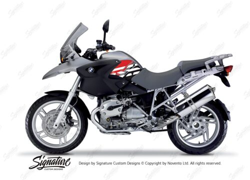 BKIT 3900 BMW R1200GS 2004 2007 Granite Grey Style Anniversary LE Red01