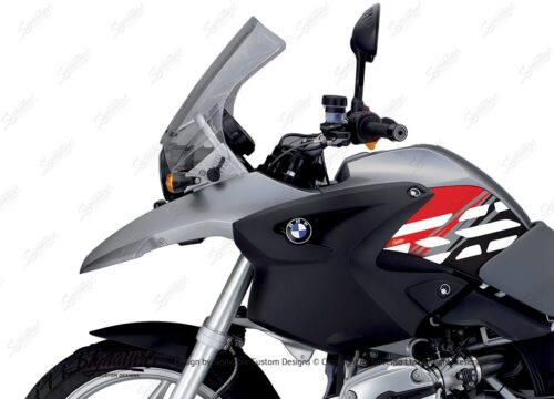 BKIT 3900 BMW R1200GS 2004 2007 Granite Grey Style Anniversary LE Red02