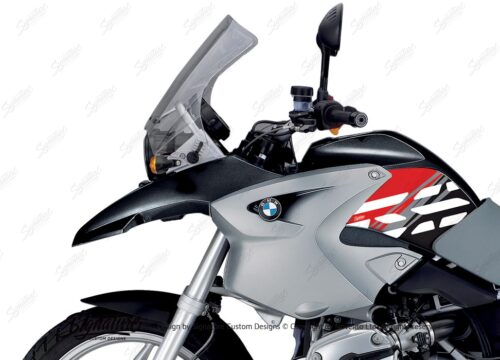 BKIT 3905 BMW R1200GS 2004 2007 Night Black Style Anniversary LE Red 02