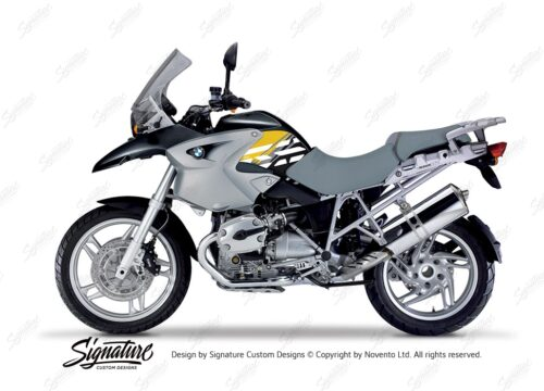BKIT 3906 BMW R1200GS 2004 2007 Night Black Style Anniversary LE Yellow 01
