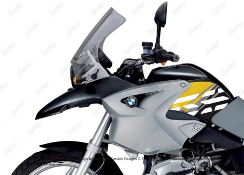 BKIT 3906 BMW R1200GS 2004 2007 Night Black Style Anniversary LE Yellow 02