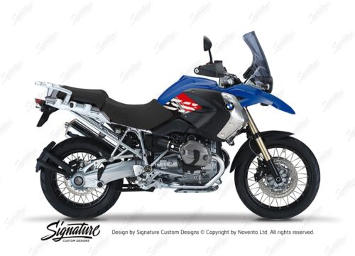 BKIT 3919 BMW R1200GS 2008 2012 Bright Blue Style Anniversary LE Red Stickers