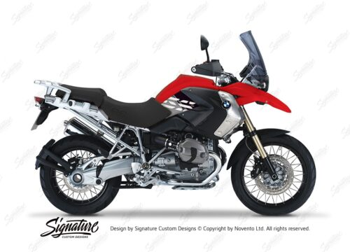 BKIT 3924 BMW R1200GS 2008 2012 Magna Red Style Anniversary LE Black Stickers