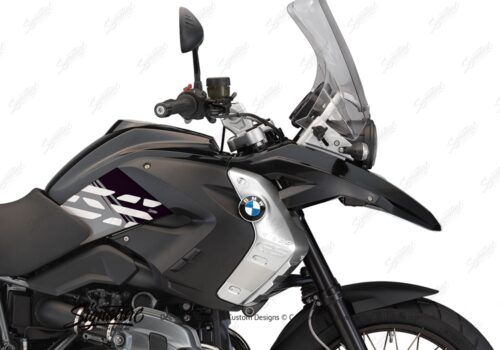 BKIT 3927 BMW R1200GS 2008 2012 Triple Black Style Anniversary LE Black Stickers 02