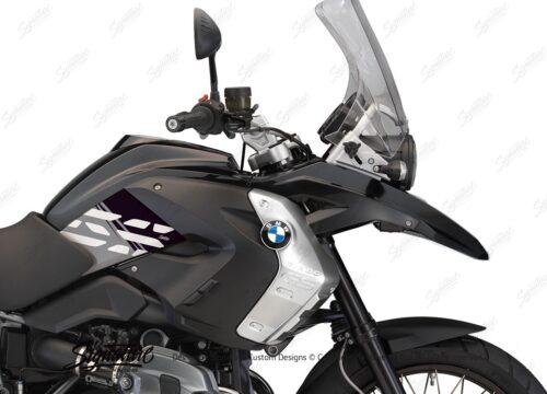 BKIT 3927 BMW R1200GS 2008 2012 Triple Black Style Anniversary LE Black Stickers 02