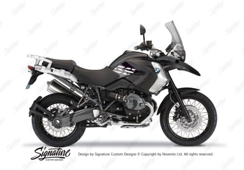 BKIT 3927 BMW R1200GS 2008 2012 Triple Black Style Anniversary LE Black Stickers