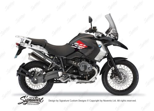 BKIT 3928 BMW R1200GS 2008 2012 Triple Black Style Anniversary LE Red Stickers