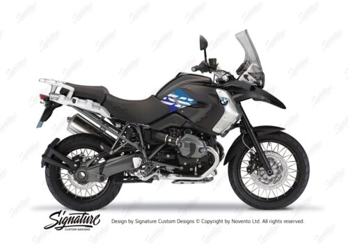 BKIT 3929 BMW R1200GS 2008 2012 Triple Black Style Anniversary LE Blue Stickers