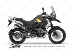 BKIT 3930 BMW R1200GS 2008 2012 Triple Black Style Anniversary LE Yellow Stickers