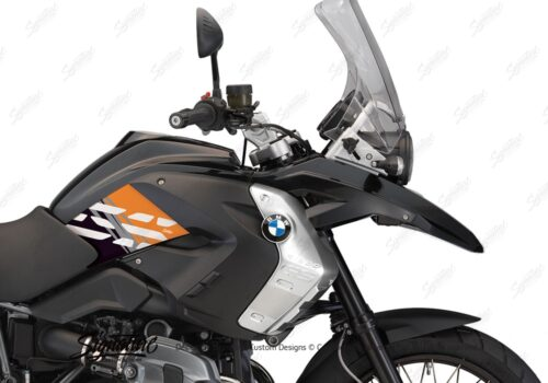 BKIT 3931 BMW R1200GS 2008 2012 Triple Black Style Anniversary LE Orange Stickers 02