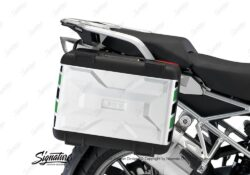 BSTI 3876 BMW Vario Side Panniers Black Green Reflective Stripes 02