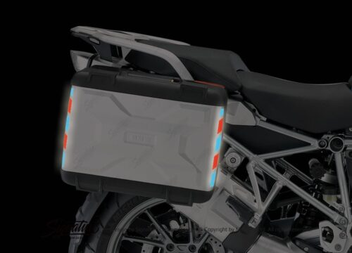 BSTI 3881 BMW Vario Side Panniers Blue Red Reflective Stripes 04