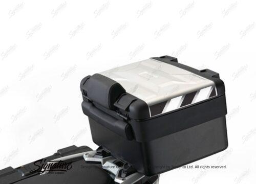 BSTI 3882 BMW Vario Top Box Black White Reflective Stripes