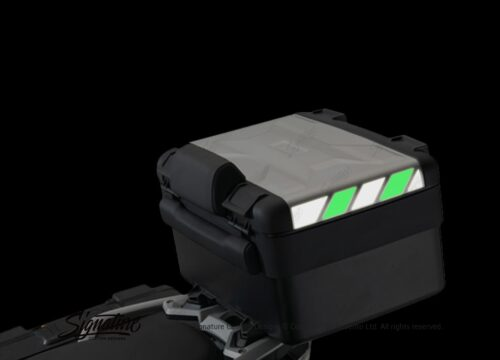 BSTI 3883 BMW Vario Top Box Black Green Reflective Stripes 02
