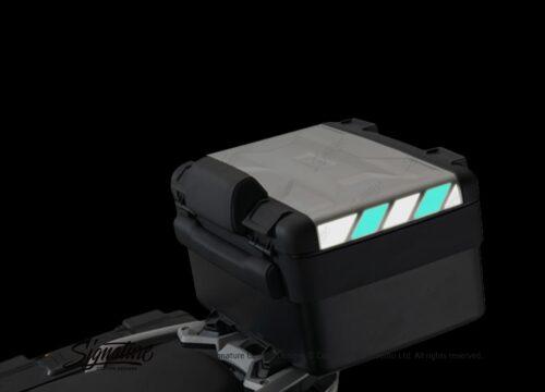 BSTI 3885 BMW Vario Top Box Black Blue Reflective Stripes 02