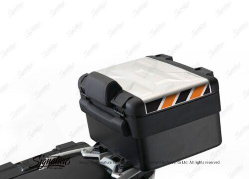 BSTI 3886 BMW Vario Top Box Black Orange Reflective Stripes 01