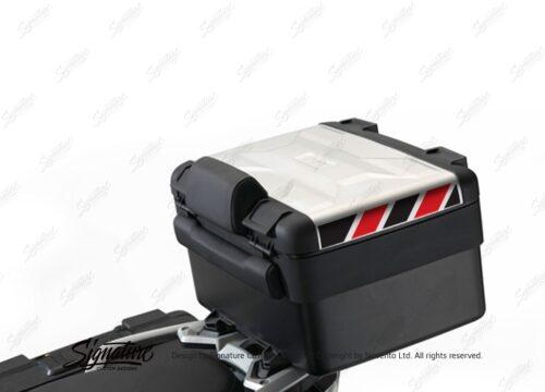 BSTI 3887 BMW Vario Top Box Black Red Reflective Stripes